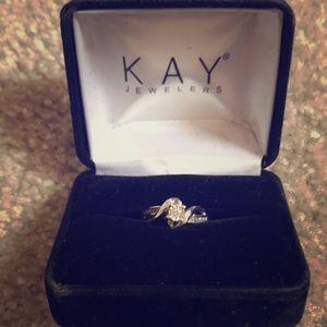 Diamond Promise Ring 1/8 ct tw round cut